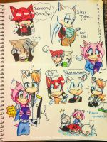 :Character Interactions doodles: by Coffee-Karin