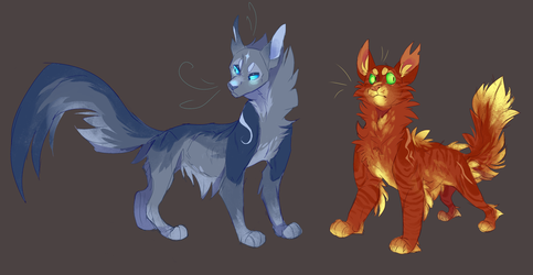Bluestar and Firestar by WeHaveCandy