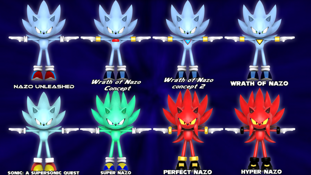 list of Nazo's Forms and Designs by Nibroc-Rock
