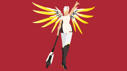 Overwatch Mercy Nurse Outfit Vector Commission by WalidSodki