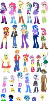 Equestria Girls Character Chart by Sketchy-Hooves