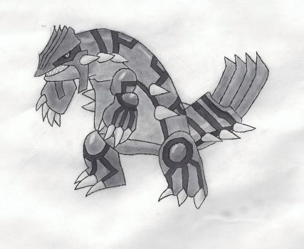 Groudon Pencil by Rpshadow100