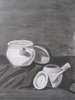 Two clay pots by mayann