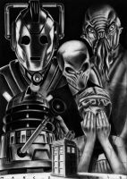 Doctor Who - Charcoal Monsters by Marc137