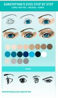 Tut. Eyes step by step by SonotaTyan