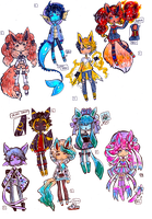 CLOSED Eveelutions -PokeGijinka adopts by Guppie-Vibes