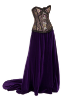 Corset Dress PNG by HighDesertPencil