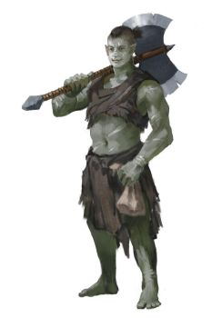 Dungeons and Dragons Half Orc Barbarian by Slange5