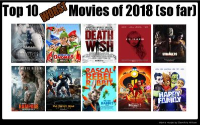 Top 10 Worst Movies Of 2018 So Far by kouliousis