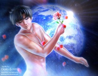 Earth God (Mamoru/Tuxedo Mask/Endymion) by galia-and-kitty