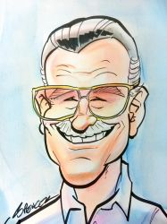 Stan Lee Caricature by spencertoons