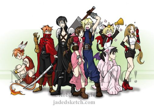 Ouran coslpays FF7 by jadress