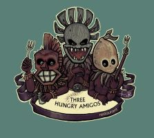 Three Hungry Amigos by Fragile-yet-CunNINg
