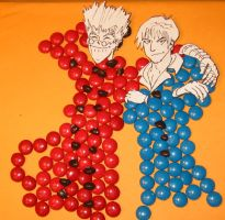 Vash, Wolfwood: in candy form by infiniteviking