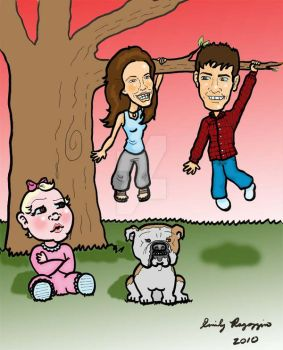 Family Tree Caricature by Pishposh555