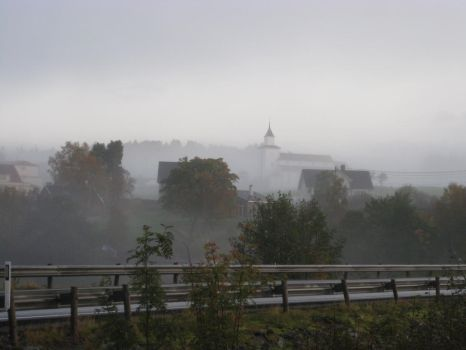 Sveio in fog by Charon1