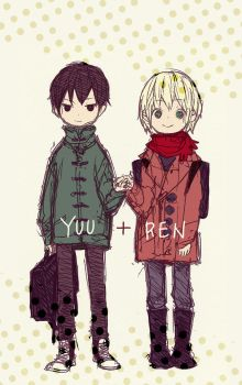 Yuu and Ren by demitasse-lover