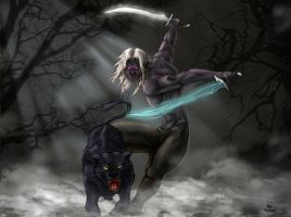 Drizzt and Guenhwyvar by EgilSterkr