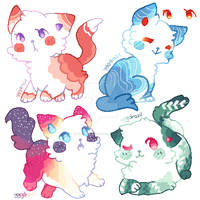 Colorful Cat Adopts | SET PRICE (CLOSED) by YggdrasilGoddess