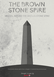 Brown Stone Spire Poster by SierraDesign