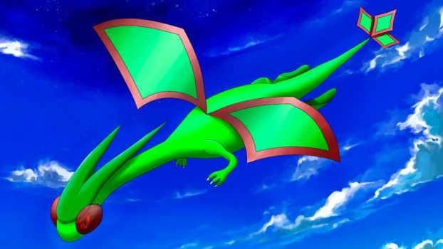 Flygon in the sky by Aphrost