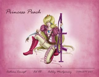 Princess Peach Costume Design by meanlilkitty