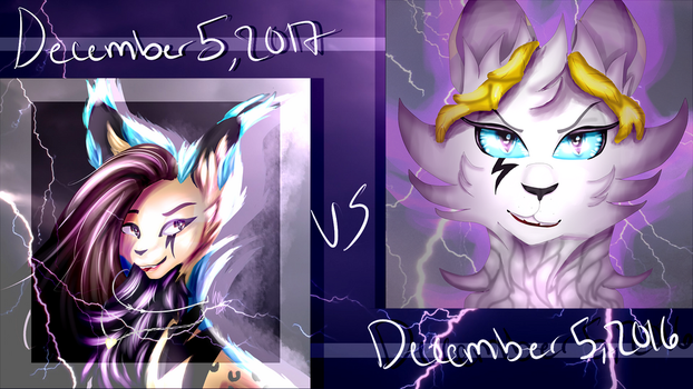 A Change of Mood *1 Year Difference* by MelodyFierce