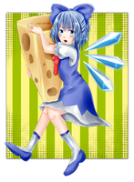 Cirno with cheese by ANeogyps