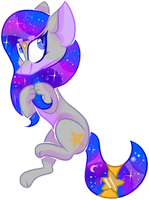 Gift: SpaceySilver (+SPEEDPAINT) by OliveCow