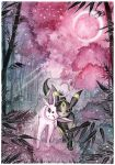 Espeon and Umbreon at the bamboo grove by LizTheFox