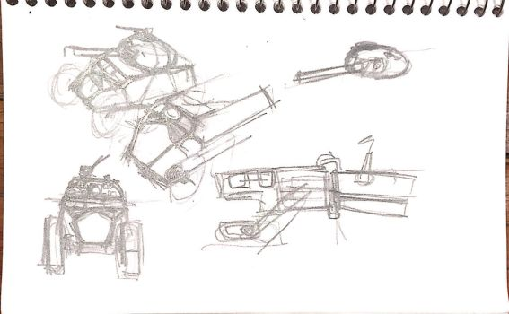 Armored car doodles by Bolo42
