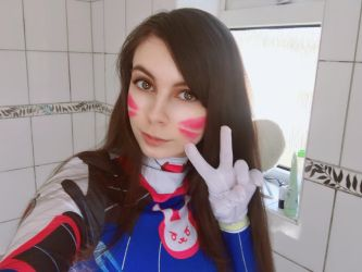 D.Va cosplay W.I.P PLUS VIDEO LINK by Hack-Girl