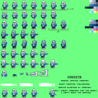 Undertale - Sans Sprite Sheet by TheLeadPool