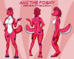 COM : Ami the Fosky Ref Sheet by whiteguardian