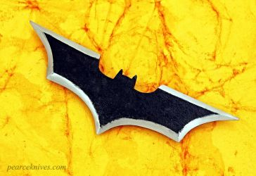 Batman Batarang with video of it being made. by Logan-Pearce
