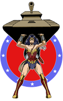 Wonder Woman Lifting Tanks 2017 COLORED by LucasAckerman