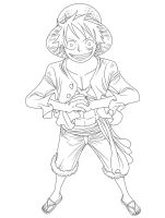 Luffy LineArt by SrMoro