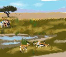 Hunting Image 1 of 3 for African Slots by TwinWolfSister