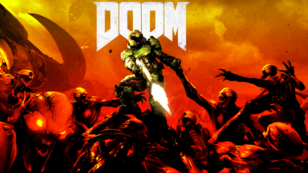 DOOM Tribute Poster by Dimitri9511