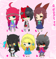 Adoptables batch #3: 6/6 closed by Kappinochi