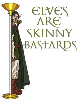 ZOE TShirt: Elves are Skinny Bastards! by ProdigyDuck