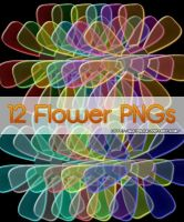 Glass Flower PNGs by Suki95