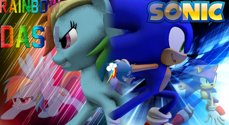 Rainbow Dash and Sonic SFM by Lux-The-Pegasus