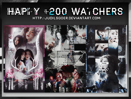 //SHARE PSD// HAPPY +200 WATCHERS by JudilsGoer