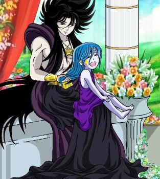 Hades and little Hecate by pandora995