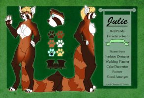 Red Panda - Julie - Reference Sheet by Temrin