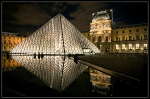 Louvre at night II. by feudal89