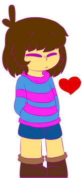 Frisk The Human by LuckyDestinyHeart