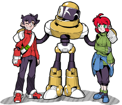 Art style test (continued-er) 3 Amigops. by NeoMan95