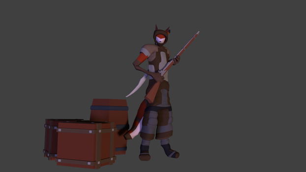 holding a musket by Furryfox422